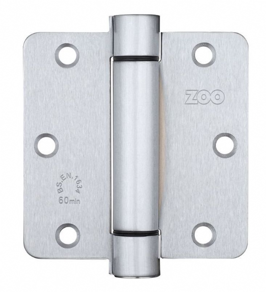 ZSHPSC Fire Door Spring Hinge Pack - Satin Silver